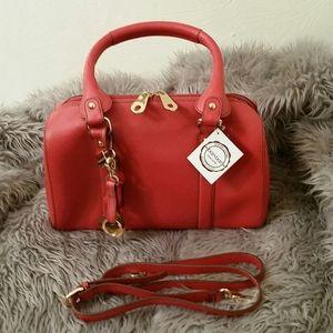 Genuine Leather satchel handbag, NWT